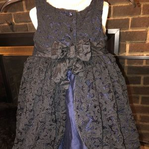 Janie & Jack Special Occasion Dress Navy Blue 2T